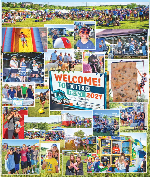 Collage of photos of 2021 Food Truck Frenzy