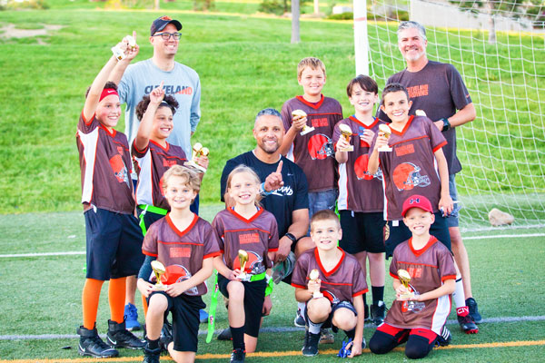 Photo of The Browns (ages 9 to 11) were spring Super Bowl champs.