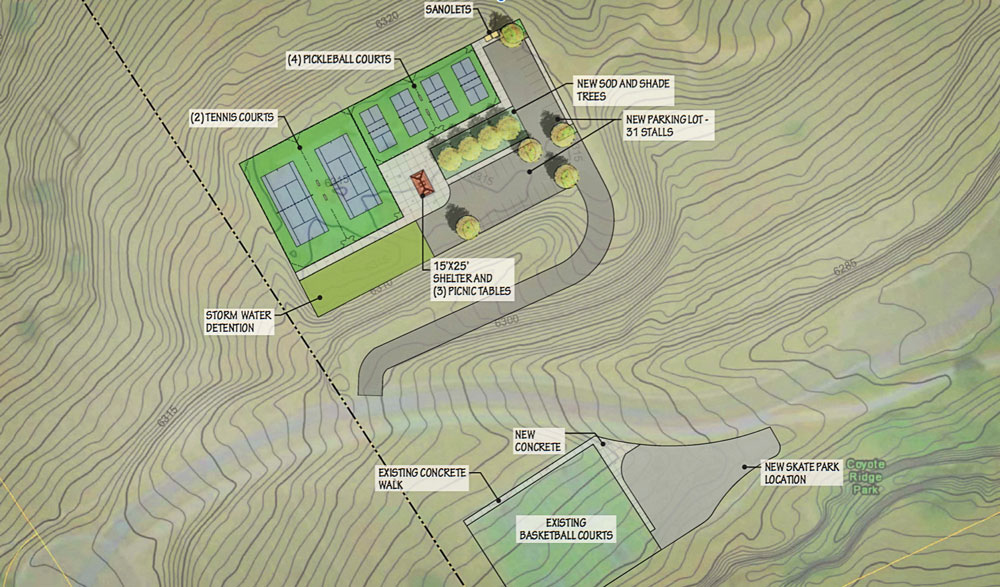 Rendering of Pickle Ball Court