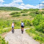 Photo of cyclists on East/West Regional Trail