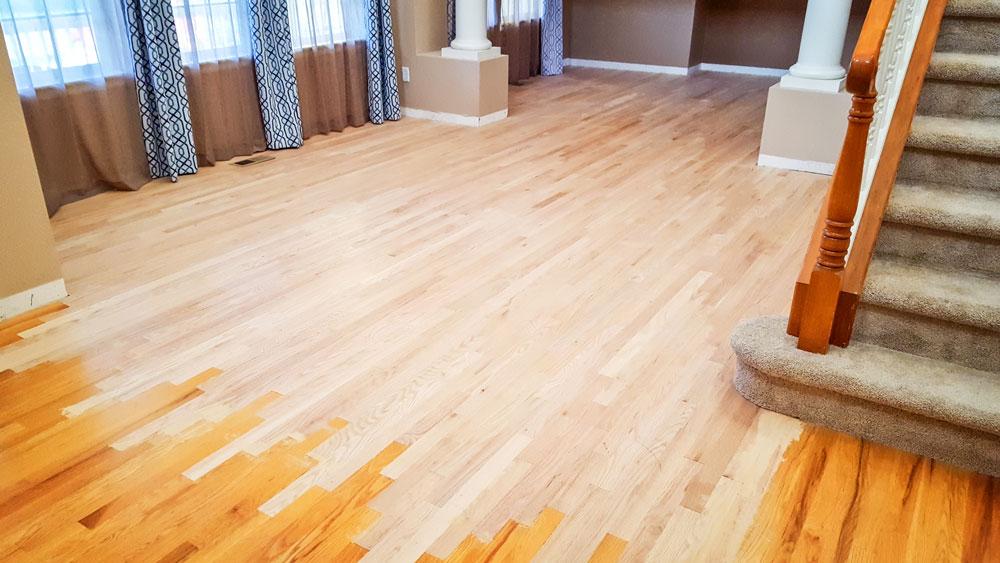 Photo of wood floor refinishing