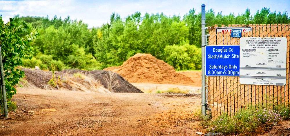 Photo of Douglas County slash/much site.