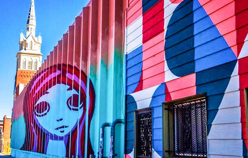 "Photo of ""Larimer Boy and Girl"" is memorable street art."