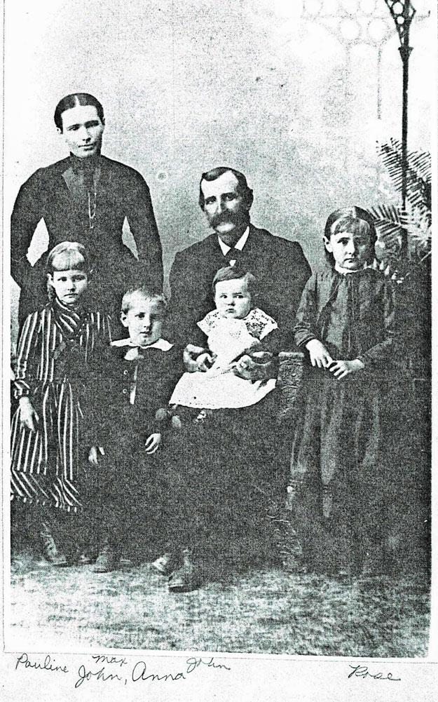 Photo circa 1891 of the John Schweiger family.