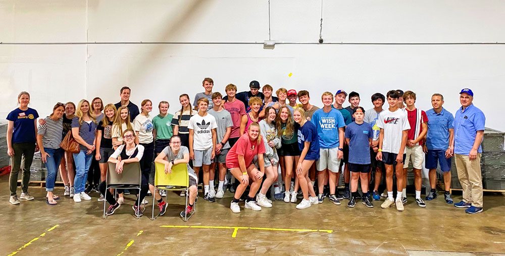 Photo of Denver Cherry Creek Rotary welcomed three dozen youth and adults from the Castle Pines ward of The Church of Jesus Christ of Latter-day Saints to volunteer