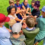 Photo of DCSM middle school human knot