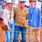 Photo of CEO of CORE Electric Cooperative, Jeff Baudier (center), with his wife, Cherie, and their youngest son, Fisher